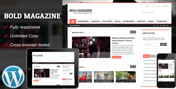 Bold Magazine Responsive WordPress Theme