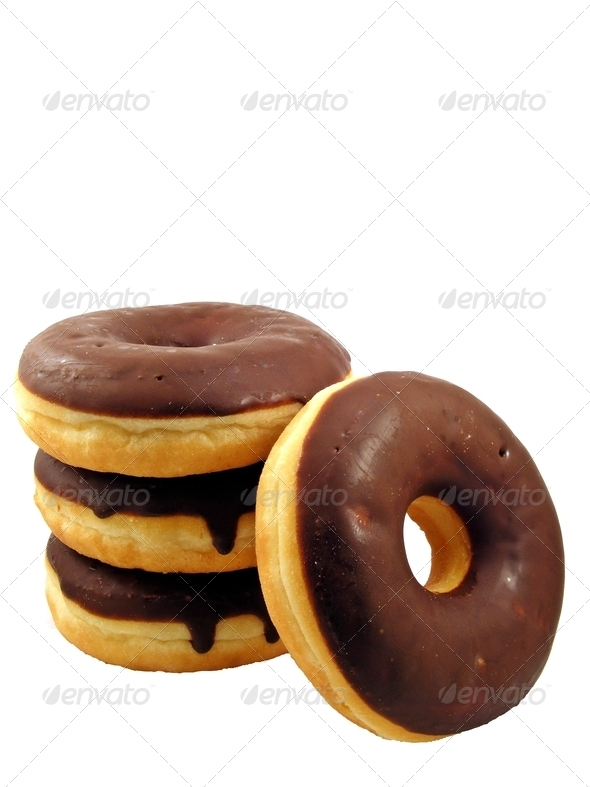 Stack of Chocolate Doughnuts - Stock Photo - Images
