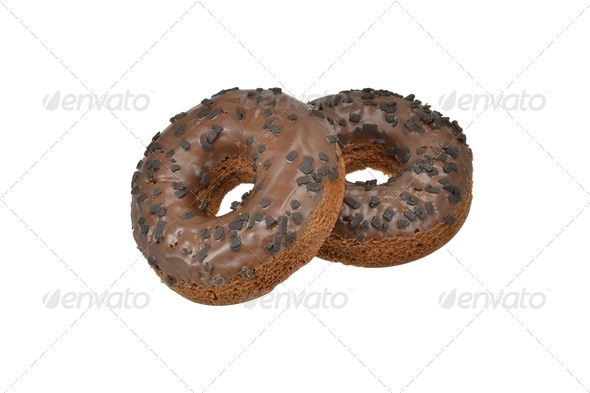 Chocolate Doughtnuts - Stock Photo - Images