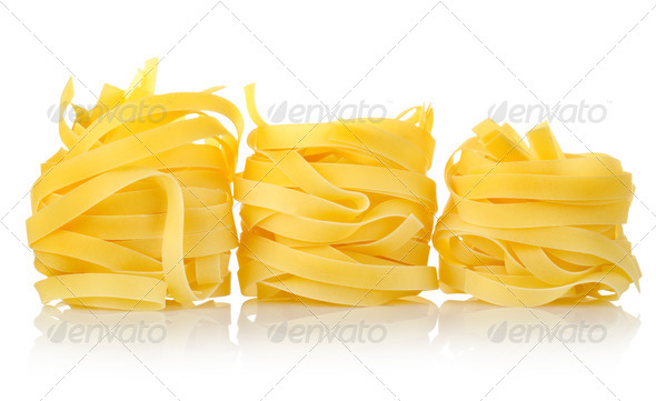 Three pastas tagliatelle - Stock Photo - Images