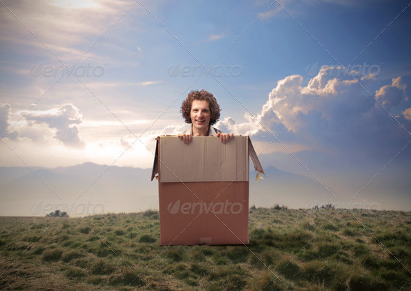 Out of the Box - Stock Photo - Images