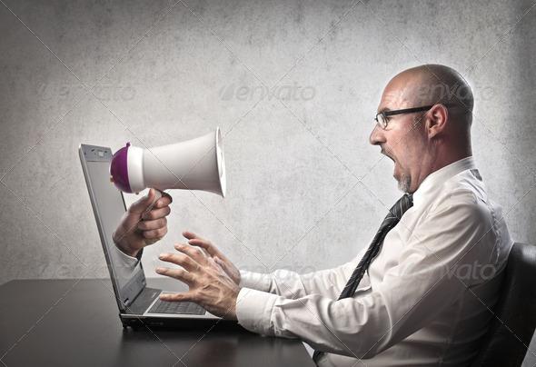 Screaming Laptop - Stock Photo - Images