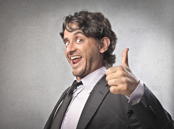 Businessman Thumb Up - Stock Photo - Images