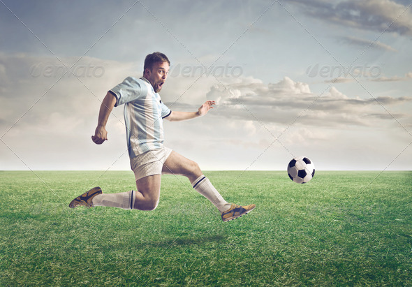 Old Soccer Player - Stock Photo - Images