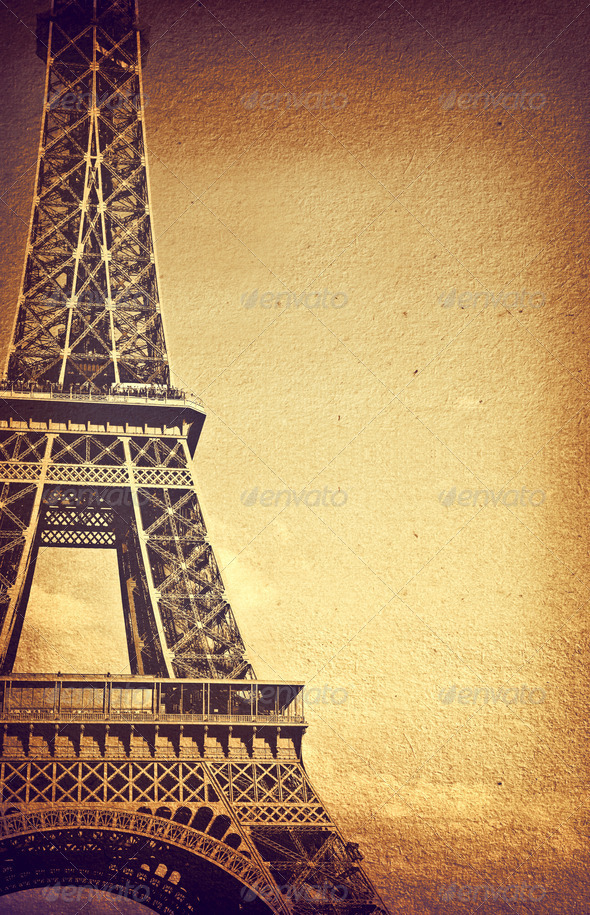 Vintage Eiffel Tower - Stock Photo - Images