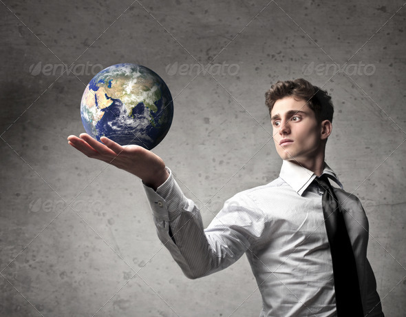 The World in the Hands - Stock Photo - Images