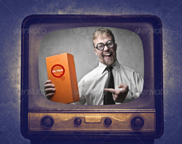 Television Advertising - Stock Photo - Images