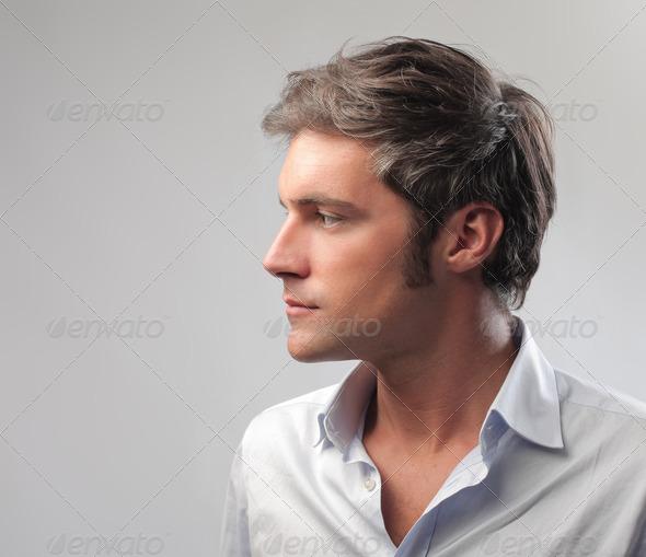 Man Profile - Stock Photo - Images