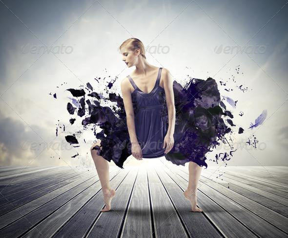 Blonde Dancer - Stock Photo - Images