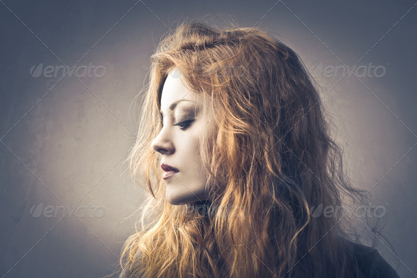 Blonde Profile - Stock Photo - Images