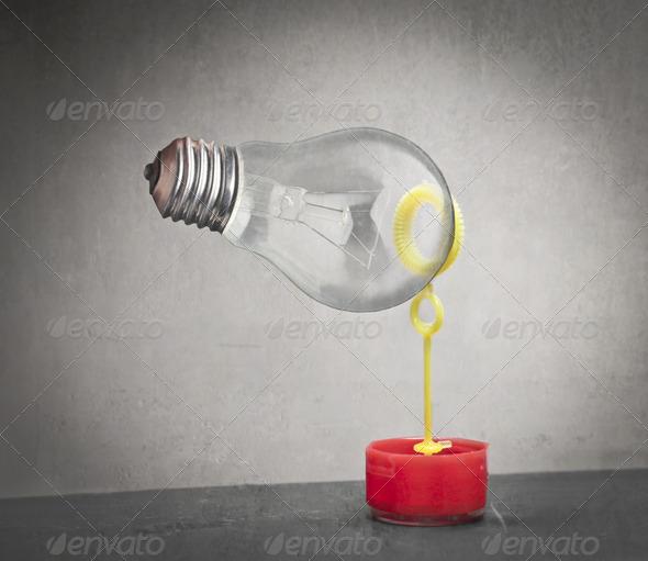 Bubble Bulb - Stock Photo - Images