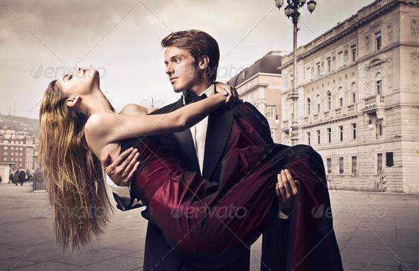 Elegant Newlyweds - Stock Photo - Images