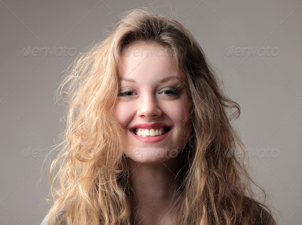 Blonde Smile - Stock Photo - Images