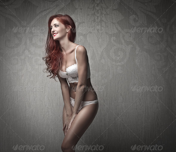 Lingerie Smile - Stock Photo - Images