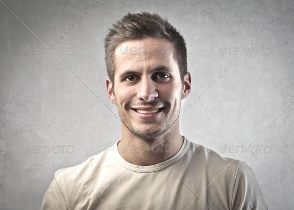 Man Smile - Stock Photo - Images