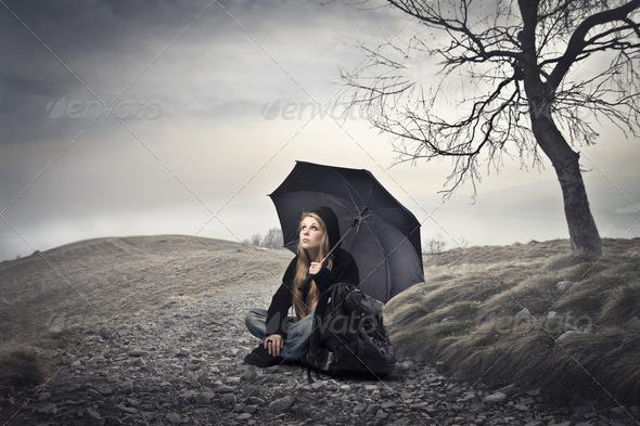 Deep Sadness - Stock Photo - Images
