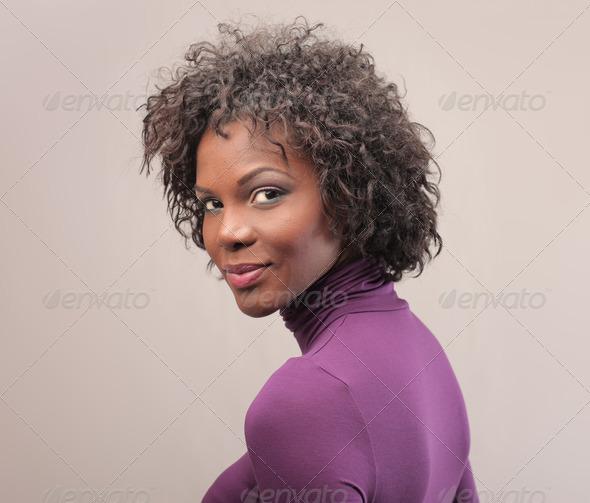 Black Girl Portrait - Stock Photo - Images
