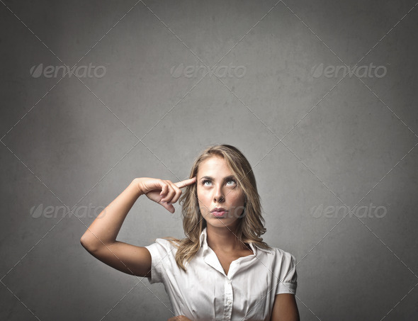 Blonde Thought - Stock Photo - Images