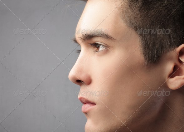 Guy Profile - Stock Photo - Images