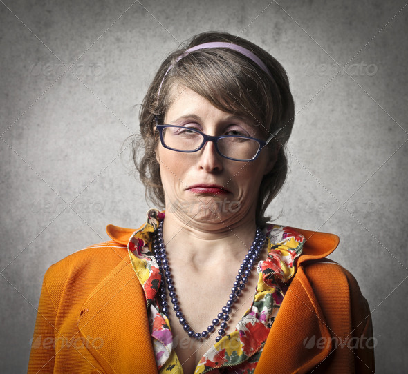 Woman Disgust - Stock Photo - Images