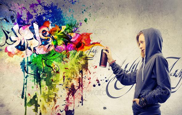 Vivid Graffiti - Stock Photo - Images