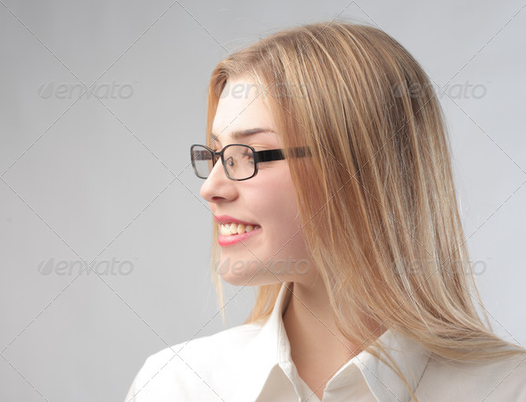 Blonde Office Worker - Stock Photo - Images