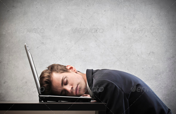 Young Businessman Sleeping - Stock Photo - Images