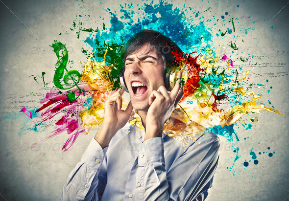 Colored Music - Stock Photo - Images