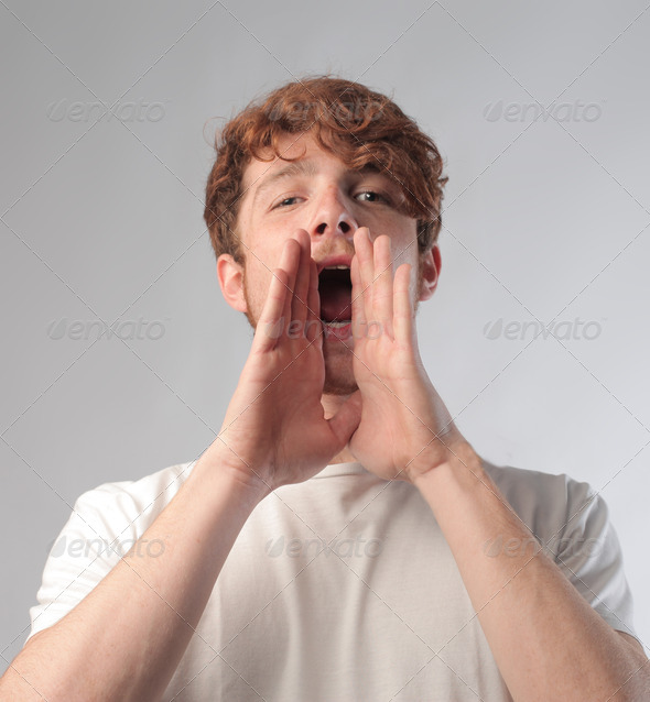 Red Scream - Stock Photo - Images