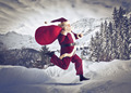 Running Santa Claus - PhotoDune Item for Sale
