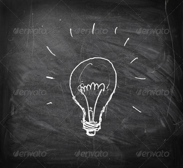 Drawn Bulb - Stock Photo - Images