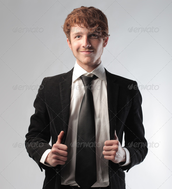 Ready Young Businessman - Stock Photo - Images