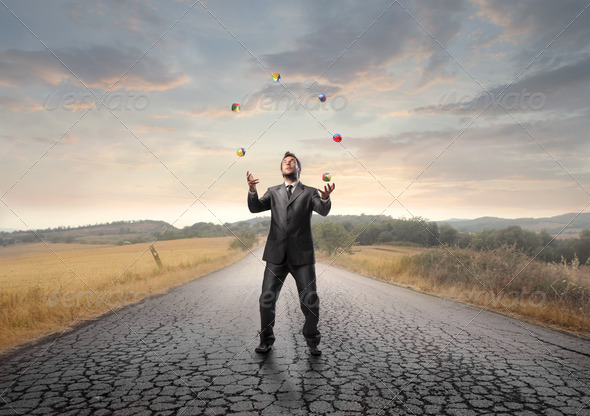 Juggling Man - Stock Photo - Images