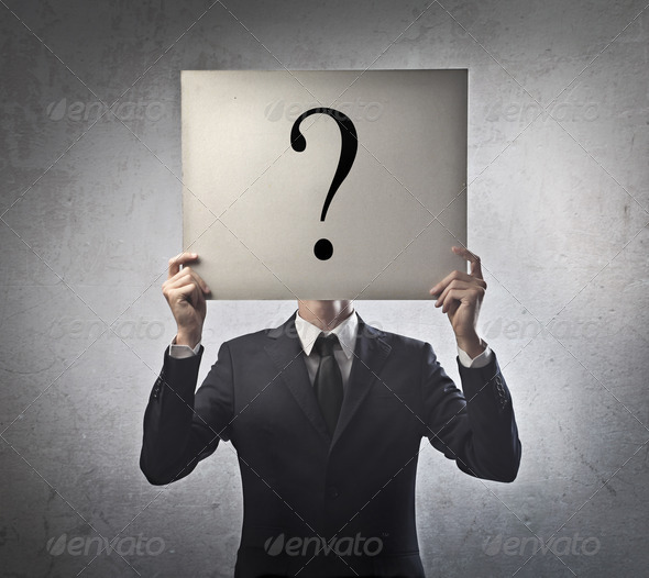 Question Mark Man - Stock Photo - Images