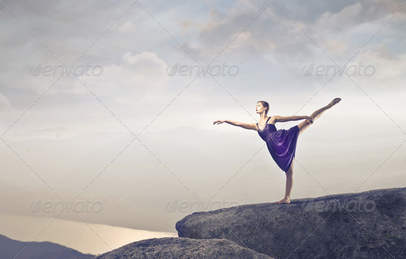 Dancer on the Cliff - Stock Photo - Images