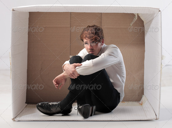 Sadness in the Box - Stock Photo - Images