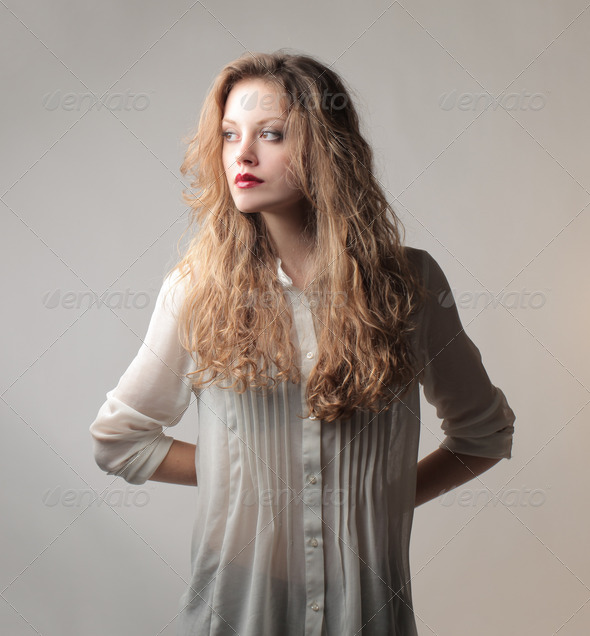 Young Blonde Woman - Stock Photo - Images