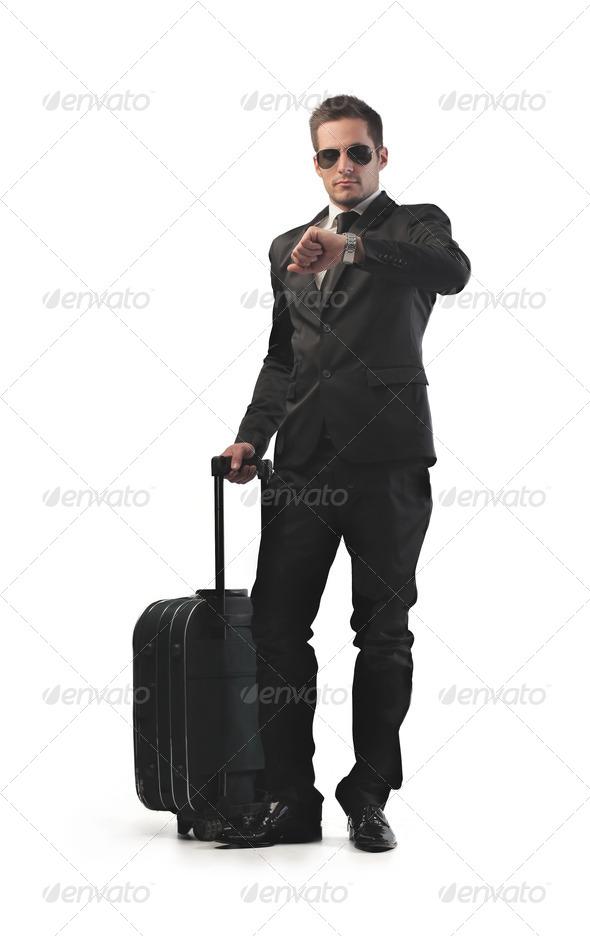 Businessman Leaving - Stock Photo - Images