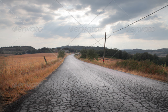 Long Bumpy Road - Stock Photo - Images
