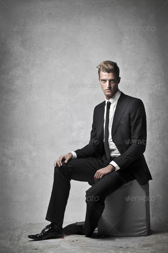 Young Businessman Serious - Stock Photo - Images