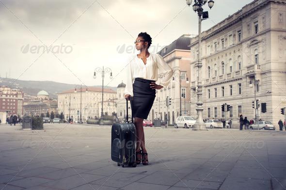 Black Girl in Trieste - Stock Photo - Images