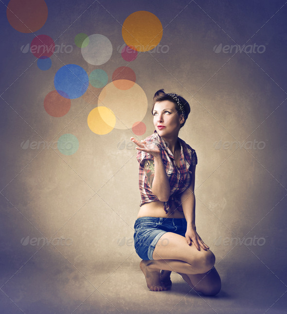 Pin Up Girl - Stock Photo - Images