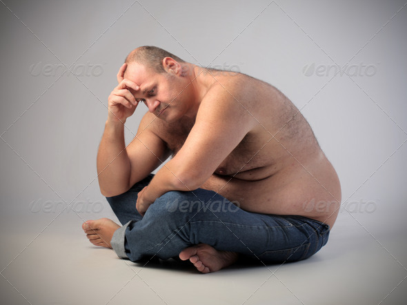 Very Fat Man - Stock Photo - Images