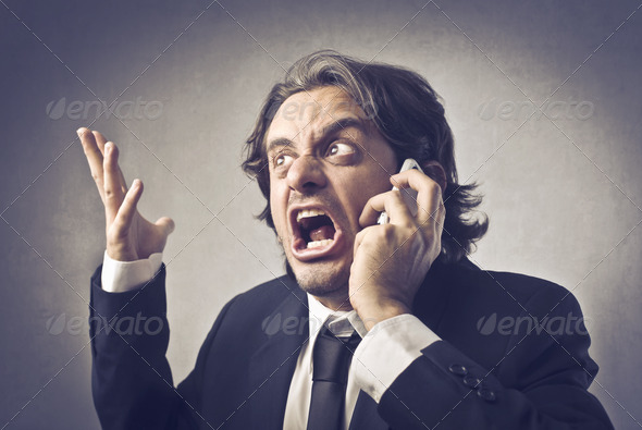 Angry Businessman - Stock Photo - Images