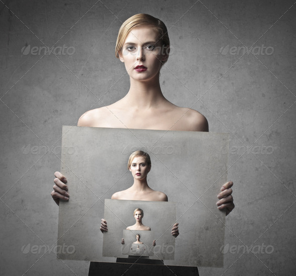 Portrait of Herself - Stock Photo - Images