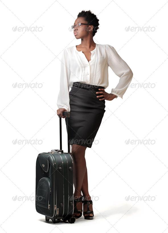 Black Girl Trip - Stock Photo - Images