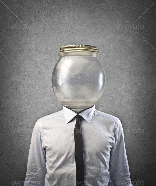 Glass Container Head - Stock Photo - Images