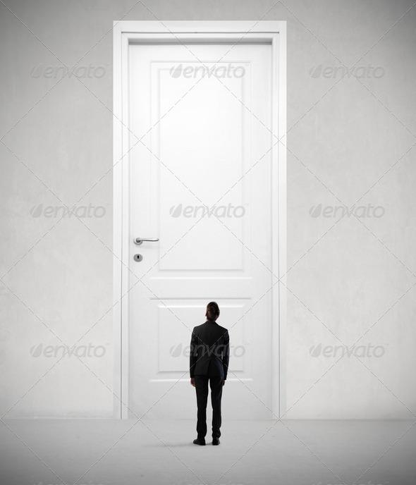 Big White Door - Stock Photo - Images