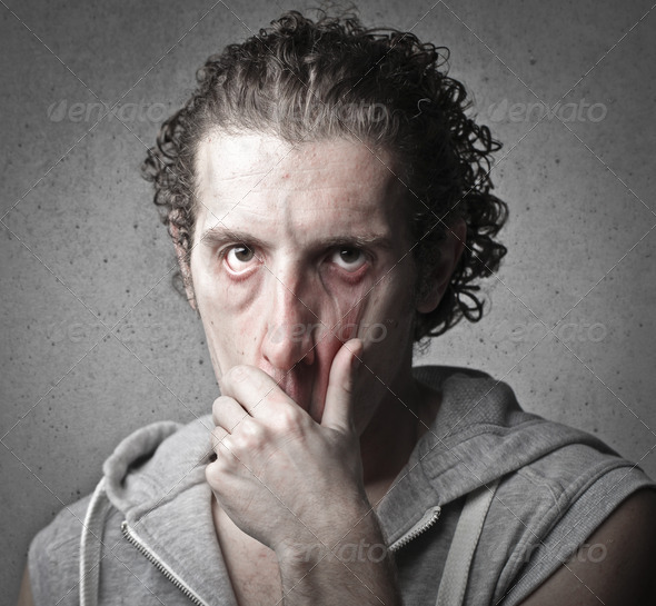 Very Tired Face - Stock Photo - Images