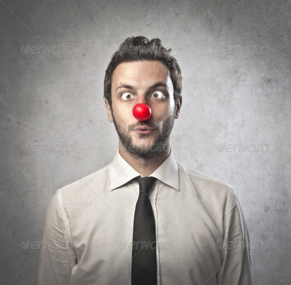 Office Worker Clown - Stock Photo - Images